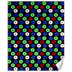 Eye Dots Green Blue Red Canvas 11  X 14