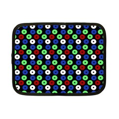 Eye Dots Green Blue Red Netbook Case (small)