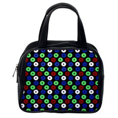 Eye Dots Green Blue Red Classic Handbags (one Side)