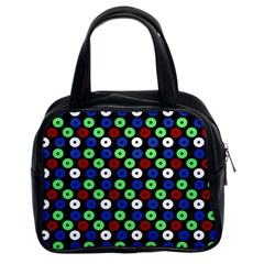 Eye Dots Green Blue Red Classic Handbags (2 Sides)