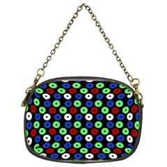 Eye Dots Green Blue Red Chain Purses (one Side)