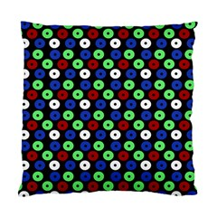 Eye Dots Green Blue Red Standard Cushion Case (two Sides)