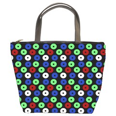 Eye Dots Green Blue Red Bucket Bags