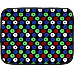 Eye Dots Green Blue Red Double Sided Fleece Blanket (mini)