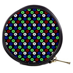 Eye Dots Green Blue Red Mini Makeup Bags
