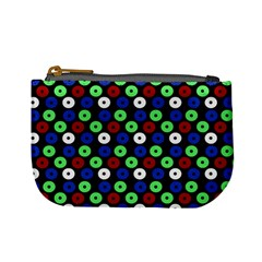 Eye Dots Green Blue Red Mini Coin Purses