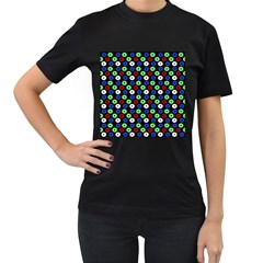Eye Dots Green Blue Red Women s T Shirt (black)