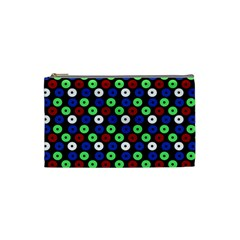 Eye Dots Green Blue Red Cosmetic Bag (small)