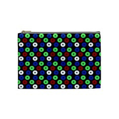 Eye Dots Green Blue Red Cosmetic Bag (medium)