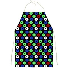 Eye Dots Green Blue Red Full Print Aprons