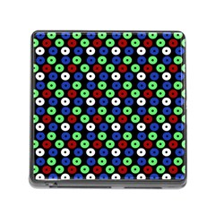 Eye Dots Green Blue Red Memory Card Reader (square)