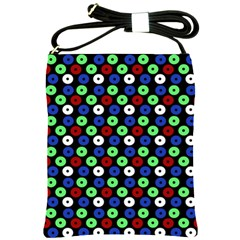 Eye Dots Green Blue Red Shoulder Sling Bags