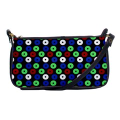 Eye Dots Green Blue Red Shoulder Clutch Bags