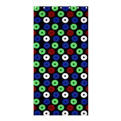 Eye Dots Green Blue Red Shower Curtain 36  X 72  (stall)