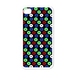 Eye Dots Green Blue Red Apple Iphone 4 Case (white)