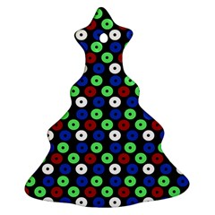 Eye Dots Green Blue Red Christmas Tree Ornament (two Sides)