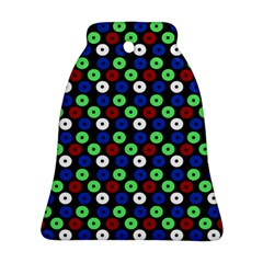 Eye Dots Green Blue Red Bell Ornament (two Sides)
