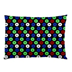 Eye Dots Green Blue Red Pillow Case (two Sides)
