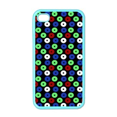 Eye Dots Green Blue Red Apple Iphone 4 Case (color)
