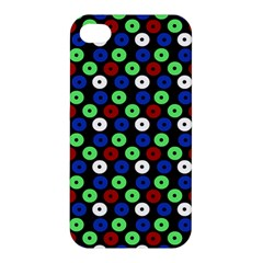 Eye Dots Green Blue Red Apple Iphone 4/4s Hardshell Case