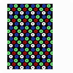 Eye Dots Green Blue Red Small Garden Flag (two Sides)