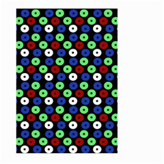 Eye Dots Green Blue Red Large Garden Flag (two Sides)