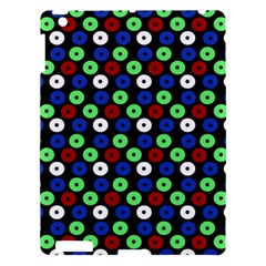 Eye Dots Green Blue Red Apple Ipad 3/4 Hardshell Case