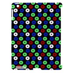 Eye Dots Green Blue Red Apple Ipad 3/4 Hardshell Case (compatible With Smart Cover)