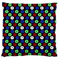 Eye Dots Green Blue Red Large Cushion Case (two Sides)