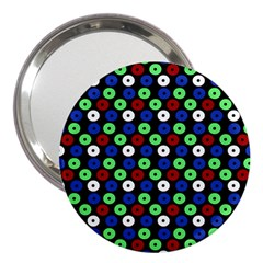 Eye Dots Green Blue Red 3  Handbag Mirrors