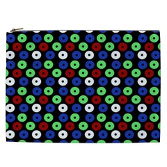Eye Dots Green Blue Red Cosmetic Bag (xxl)