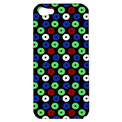 Eye Dots Green Blue Red Apple Iphone 5 Hardshell Case