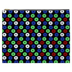 Eye Dots Green Blue Red Cosmetic Bag (xxxl)