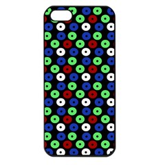 Eye Dots Green Blue Red Apple Iphone 5 Seamless Case (black)