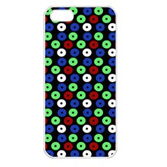 Eye Dots Green Blue Red Apple Iphone 5 Seamless Case (white)