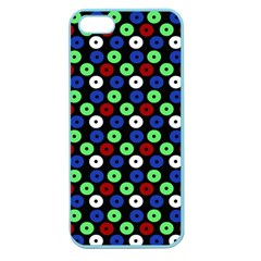 Eye Dots Green Blue Red Apple Seamless Iphone 5 Case (color)