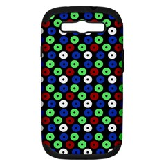 Eye Dots Green Blue Red Samsung Galaxy S Iii Hardshell Case (pc+silicone)