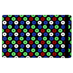 Eye Dots Green Blue Red Apple Ipad 3/4 Flip Case
