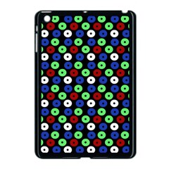 Eye Dots Green Blue Red Apple Ipad Mini Case (black)