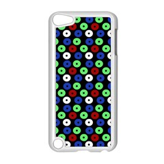 Eye Dots Green Blue Red Apple Ipod Touch 5 Case (white)