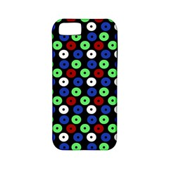 Eye Dots Green Blue Red Apple Iphone 5 Classic Hardshell Case (pc+silicone)