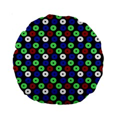 Eye Dots Green Blue Red Standard 15  Premium Round Cushions