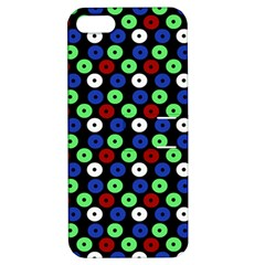 Eye Dots Green Blue Red Apple Iphone 5 Hardshell Case With Stand