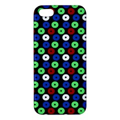 Eye Dots Green Blue Red Apple Iphone 5 Premium Hardshell Case