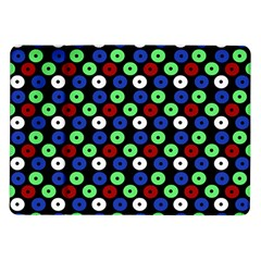 Eye Dots Green Blue Red Samsung Galaxy Tab 10 1  P7500 Flip Case
