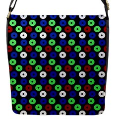Eye Dots Green Blue Red Flap Messenger Bag (s)