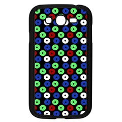 Eye Dots Green Blue Red Samsung Galaxy Grand Duos I9082 Case (black)