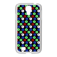 Eye Dots Green Blue Red Samsung Galaxy S4 I9500/ I9505 Case (white)