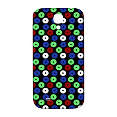 Eye Dots Green Blue Red Samsung Galaxy S4 I9500/i9505  Hardshell Back Case