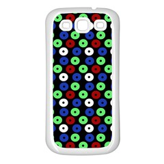 Eye Dots Green Blue Red Samsung Galaxy S3 Back Case (white)